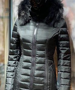 Winterjas dames halflange 009 New long zwart