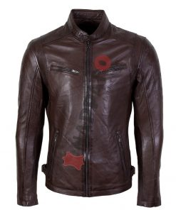 leren jas heren 9903 brown nappato