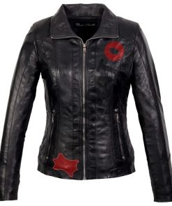 Leren jas dames 9938 sm zwart