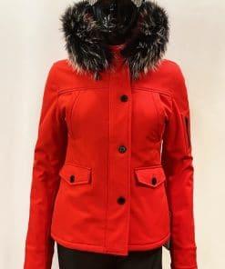 Bontjas dames winterjas 9959 rood softshell