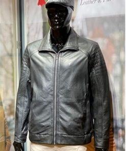 Leren jas heren BB19 zwart lamsleer
