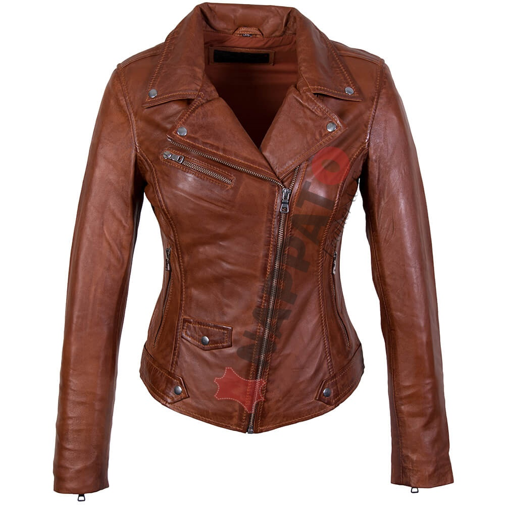 Welp Leren jas dames - Classic Perfecto - Brandi lamsleer - Nappato Leather FR-02