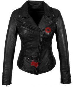 Leren jas dames Classic perfecto zwart