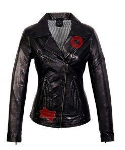 Leren jas dames Jane 5 zwart