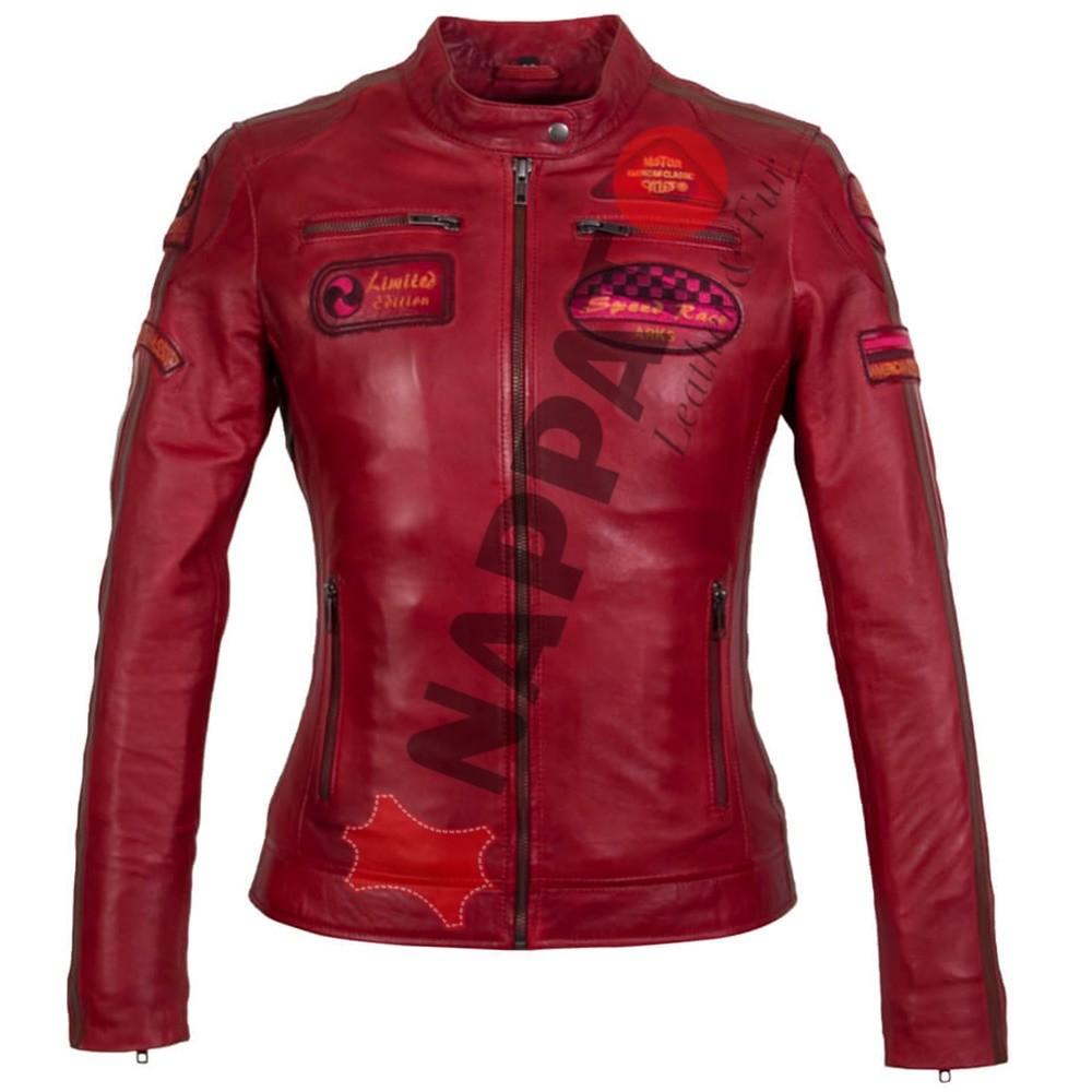 Leren Jas Dames Aanbiedingen.Leren Jas Dames Lady T Rood Nappato Leather