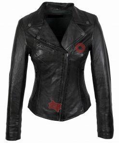 Leren jas dames Perfecto in zwart