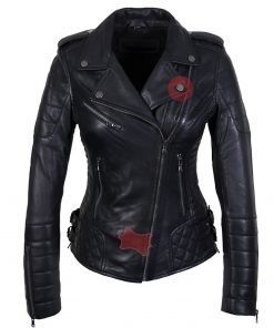 Leren jas dames Perfecto bds zwart