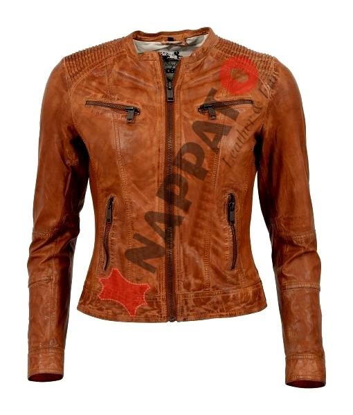 Leren Jas Dames Cognac.Leren Jas Dames Eona Cognac Nappato Leather