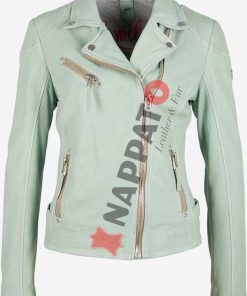 Dames leren jas S20 pale mint