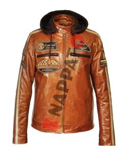 Leren jack heren T20 brandy / tan