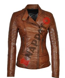 Leren jas dames T1 Brandy / tan