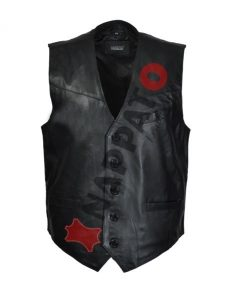 Leren Vest Heren - Gilet 9914 Zwart lamsleer