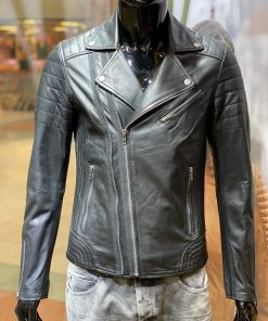 Leren jas heren gbs zwart