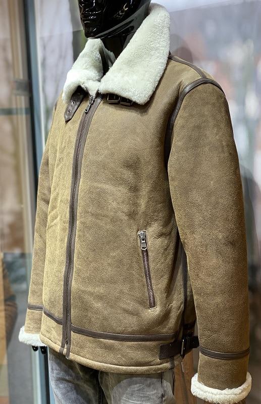 Lammy coat heren 8 sand lams Nappato Leather