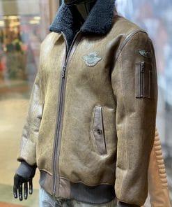 Lammy coat heren pilot bruin