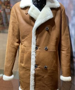 Lammy coat heren Trenchcoat cognac